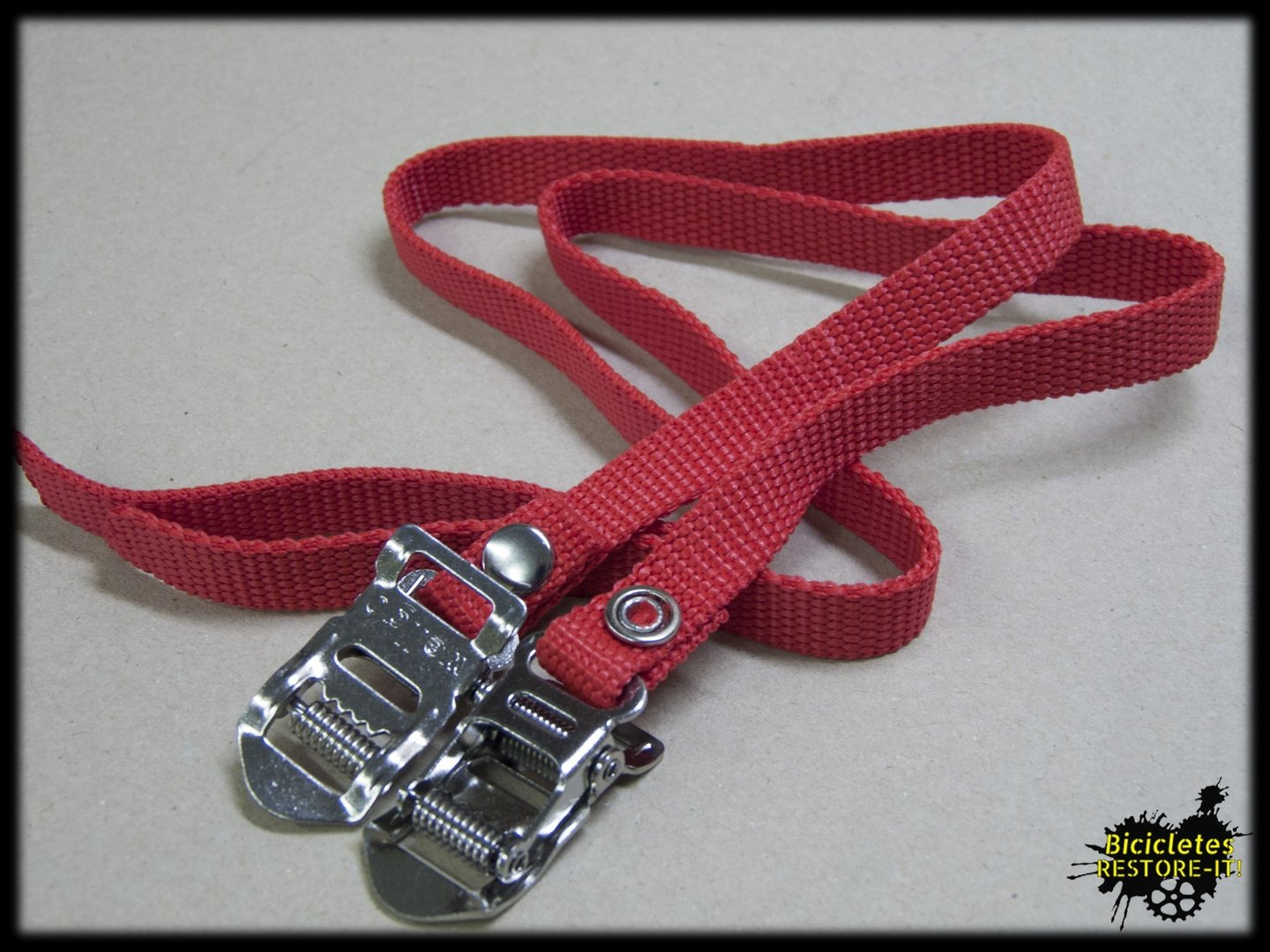 Correas calapies nylon rojo