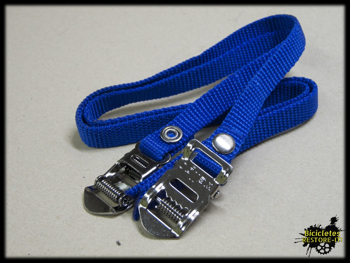 Correas calapies nylon azul